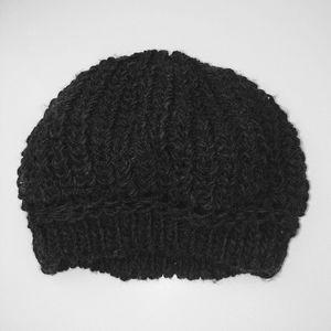 Wool Blend Navy Knit Hat - OS